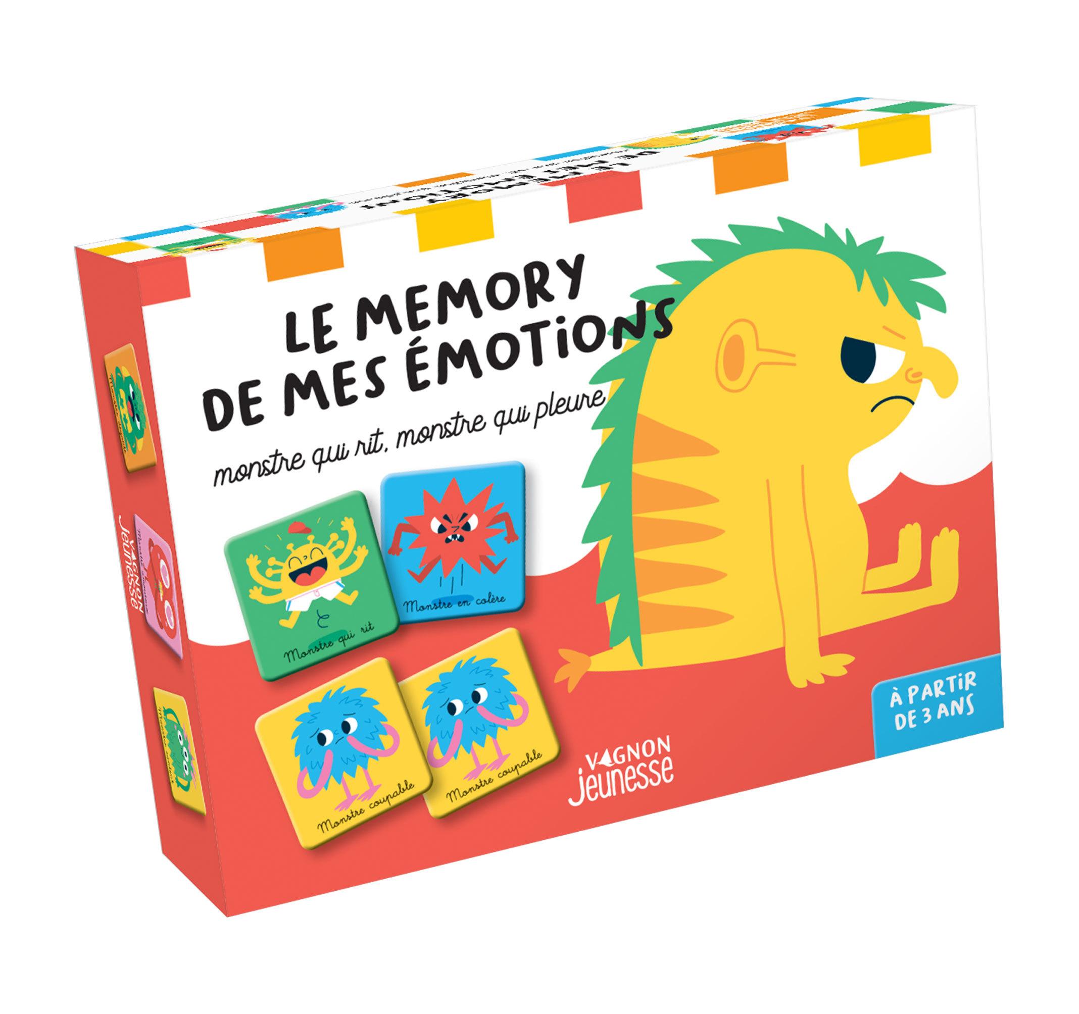 LE MEMORY DE MES EMOTIONS. MONSTRE QUI RIT, MONSTRE QUI PLEURE