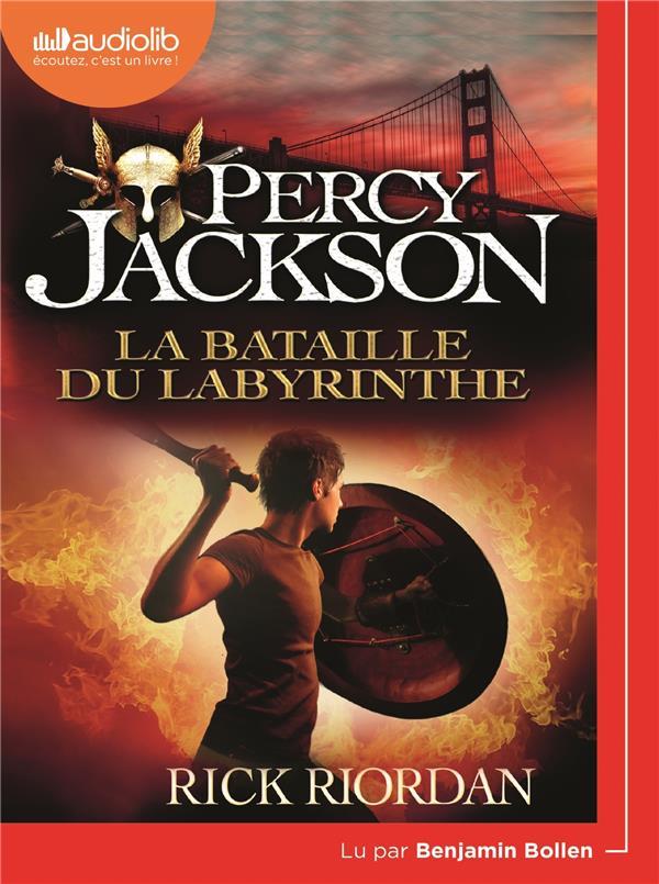PERCY JACKSON - T04 - PERCY JACKSON 4 - LA BATAILLE DU LABYRINTHE - LIVRE AUDIO 1 CD MP3