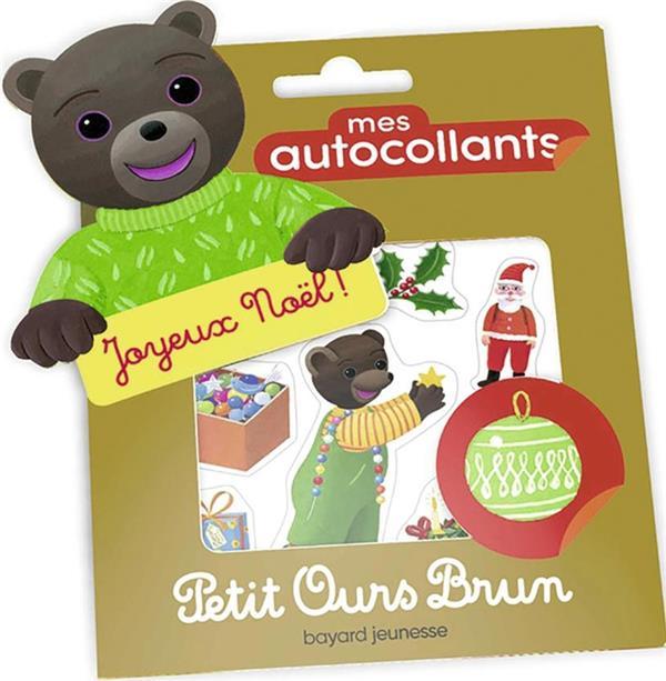 Mes autocollants petit ours brun - joyeux noel !