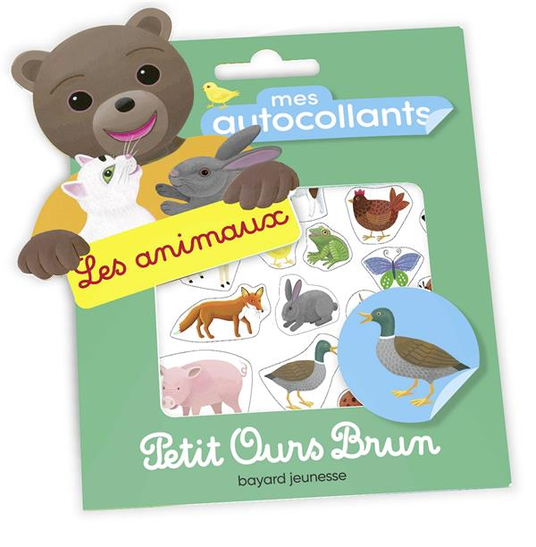 Mes autocollants petit ours brun - les animaux