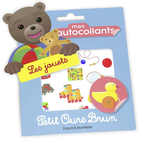 Mes autocollants petit ours brun - les jouets