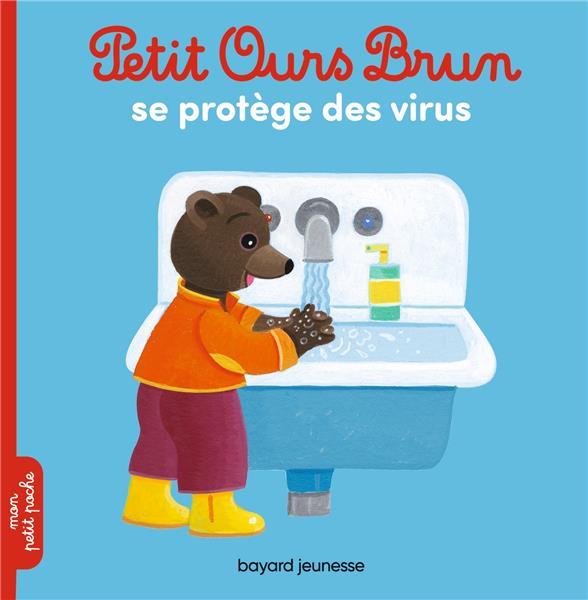 Petit ours brun se protege des virus