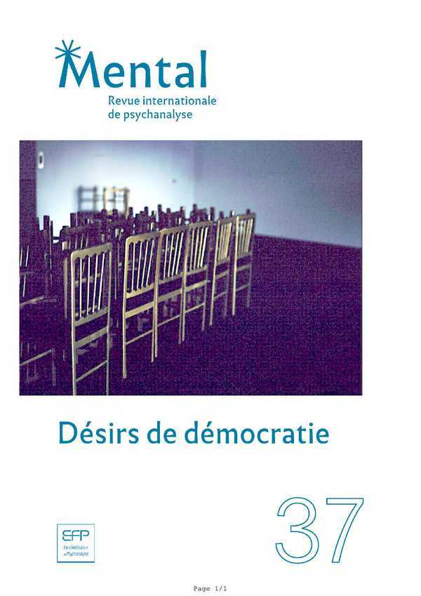 MENTAL N 37 DESIR DE DEMOCRATIE -JUIN 2018