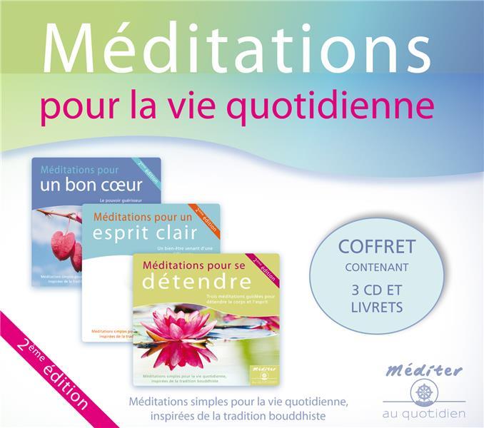 COFFRET MEDITATIONS POUR LA VIE QUOTIDIENNE - COFFRET 3 CD - MEDITATIONS SIMPLES POUR LA VIE AU QUOT