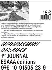 EFFONDREMENT DES ALPES - PREMIER JOURNAL