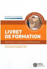 LIVRET DE FORMATION PRATIQUE CLINIQUE OSTEOPATHIQUE