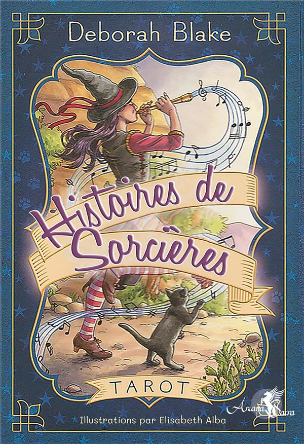 TAROT HISTOIRES DE SORCIERES - COFFRET COMPRENANT UN TAROT DE 78 CARTES, UN LIVRE EXPLICATIF EN COUL