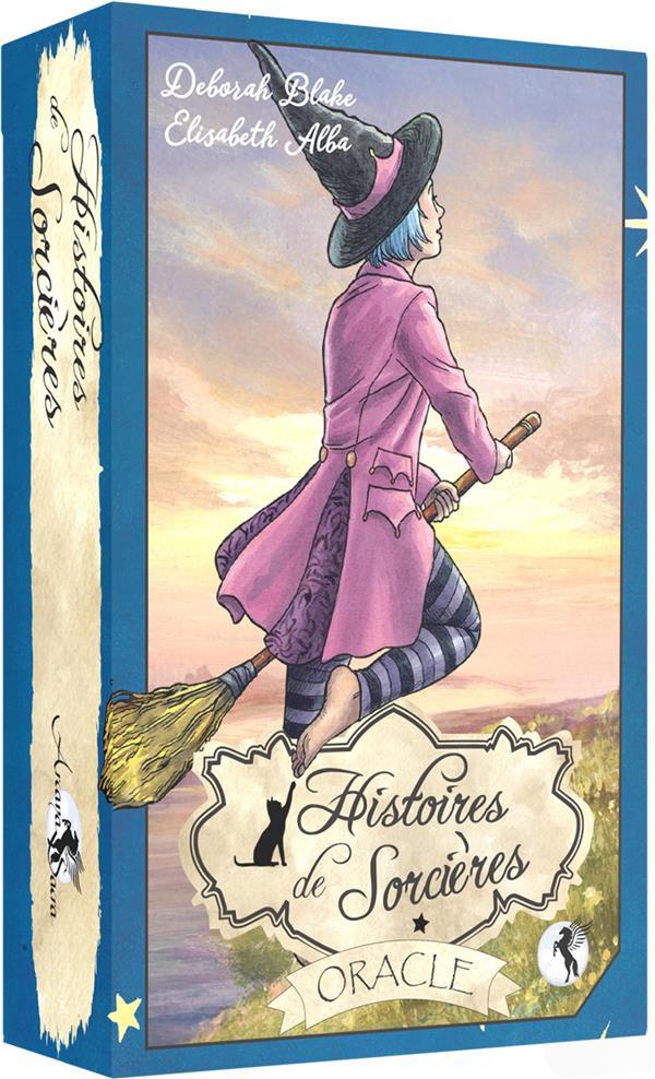 ORACLE HISTOIRES DE SORCIERES (BOITE CLOCHE) - BOITE CLOCHE COMPRENANT 40 CARTES AVEC LIVRET EN COUL