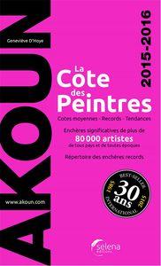 COTE DES PEINTRES 2015-2016 (LA)  -