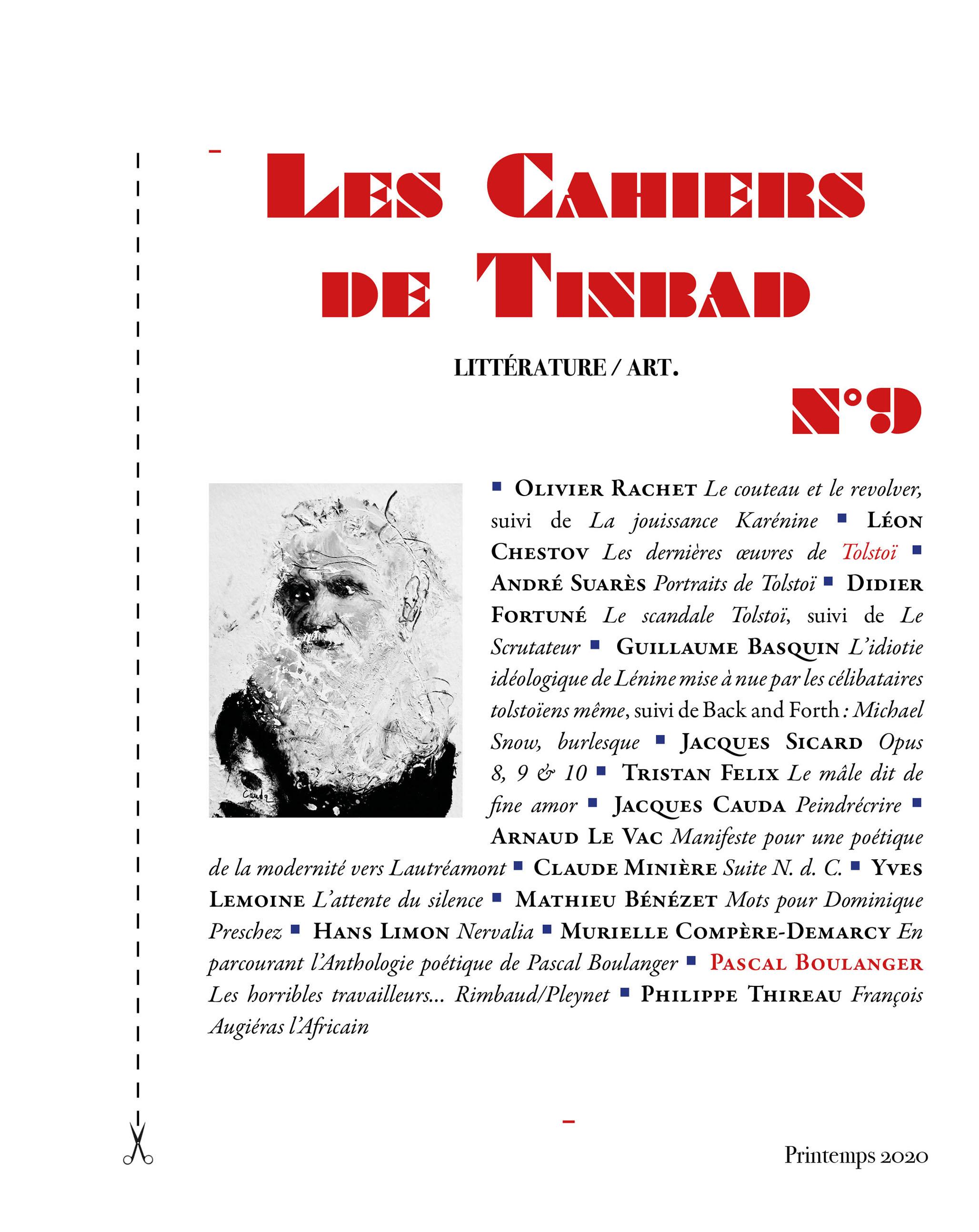 LES CAHIERS DE TINBAD N 9