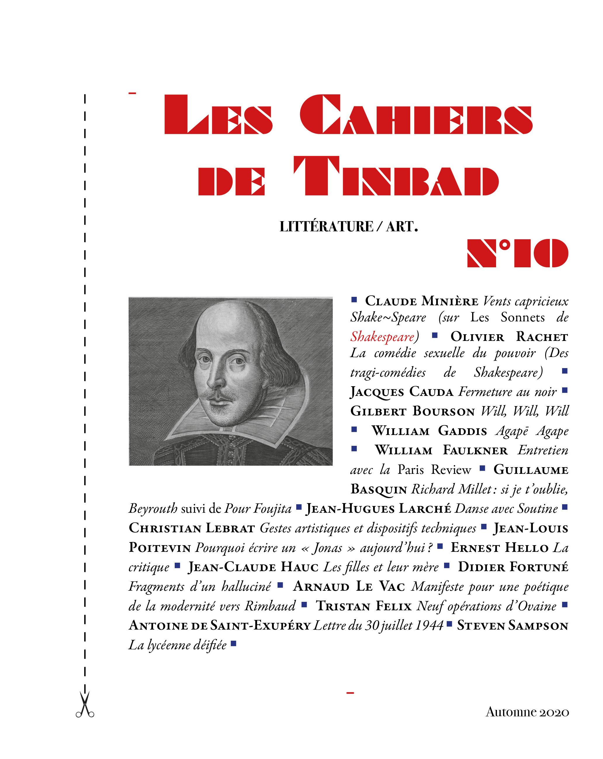 LES CAHIERS DE TINBAD N 10