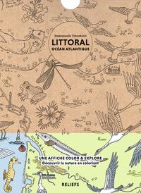 LITTORAL OCEAN ATLANTIQUE - AFFICHE A COLORIER