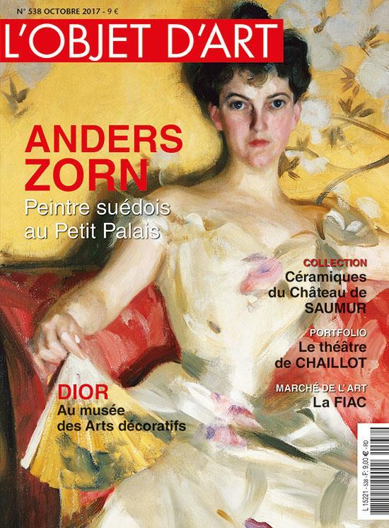 L'OBJET D'ART N 538 ANDERS ZORN OCTOBRE 2017