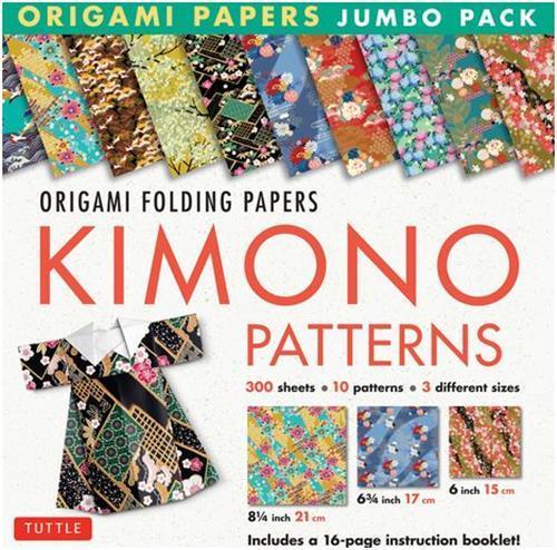 ORIGAMI PAPER JUMBO PACK: KIMONO PATTERNS /ANGLAIS