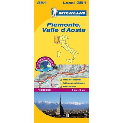 CARTE LOCALE 351 PIEMONTE,VALLE D'AOSTA