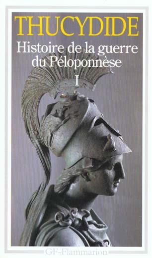 LITTERATURE ET CIVILISATION - T01 - HISTOIRE DE LA GUERRE DU PELOPONNESE