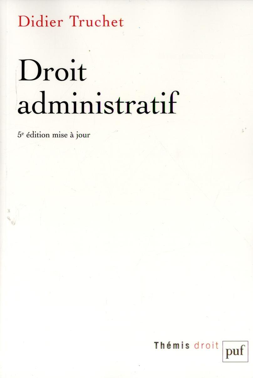 DROIT ADMINISTRATIF (5ED)