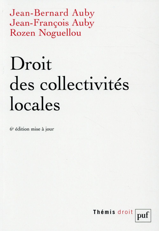 DROIT DES COLLECTIVITES LOCALES