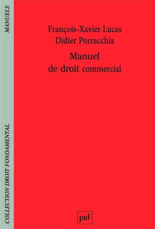 MANUEL DE DROIT COMMERCIAL