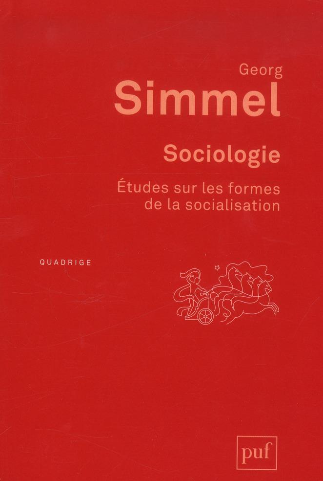SOCIOLOGIE. ETUDES SUR LES FORMES DE LA SOCIALISATION