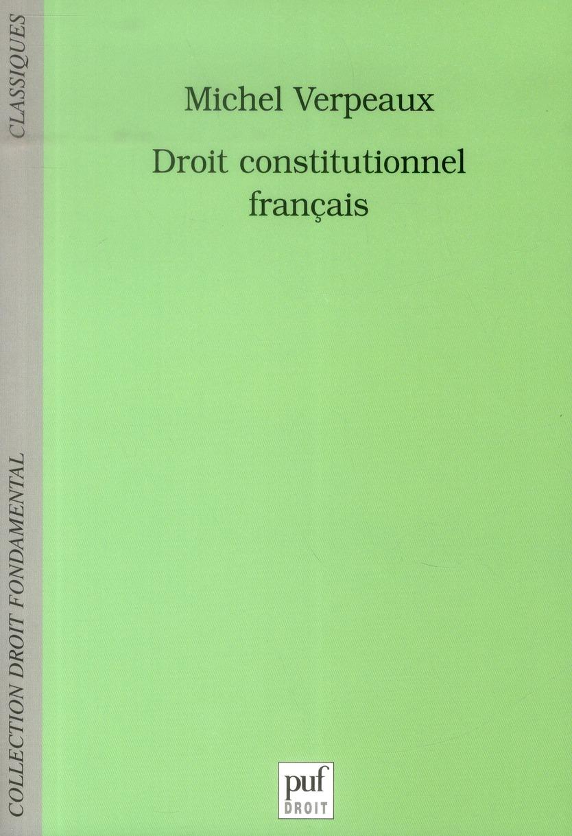 DROIT CONSTITUTIONNEL FRANCAIS