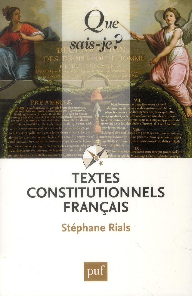 TEXTES CONSTITUTIONNELS FRANCAIS (25ED) QSJ 2022