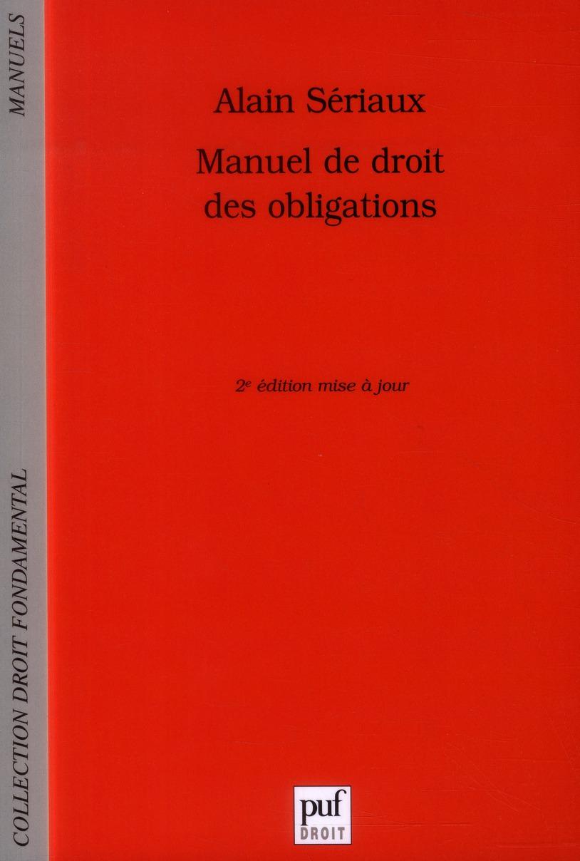 MANUEL DE DROIT DES OBLIGATIONS (2ED)