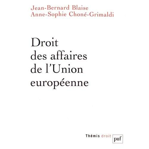 DROIT DES AFFAIRES DE L'UNION EUROPEENNE