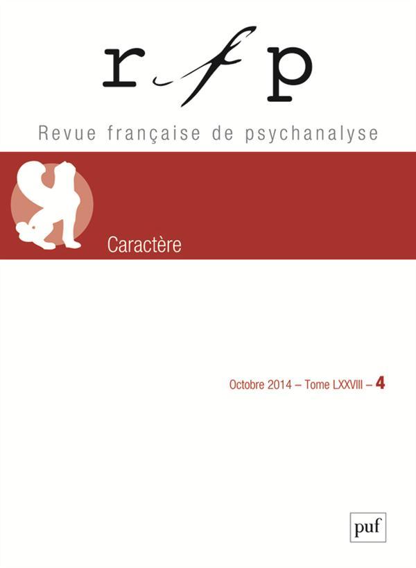 RFP 2014, T. 78, N  4 - CARACTERE