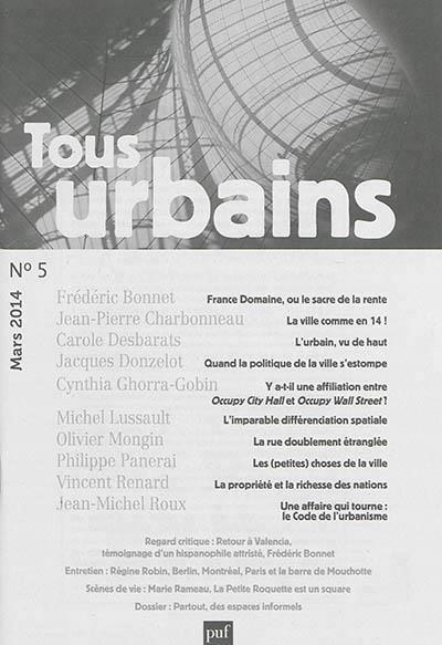 TOUS URBAINS N  5 (2014)