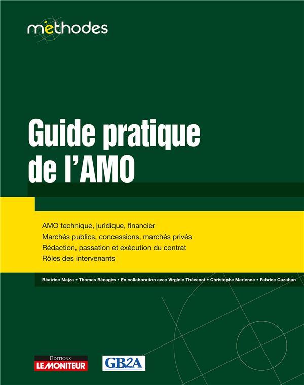 GUIDE PRATIQUE DE L'AMO - AMO TECHNIQUE, JURIDIQUE, FINANCIER - MARCHES PUBLICS, CONCESSIONS, MARCHE