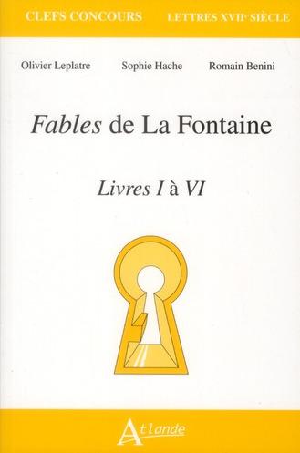 FABLES DE LA FONTAINE LIVRES I A VI