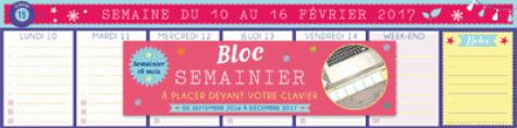 HEBDOMANIAK SEMAINIER BLOC CLAVIER 2016-2017