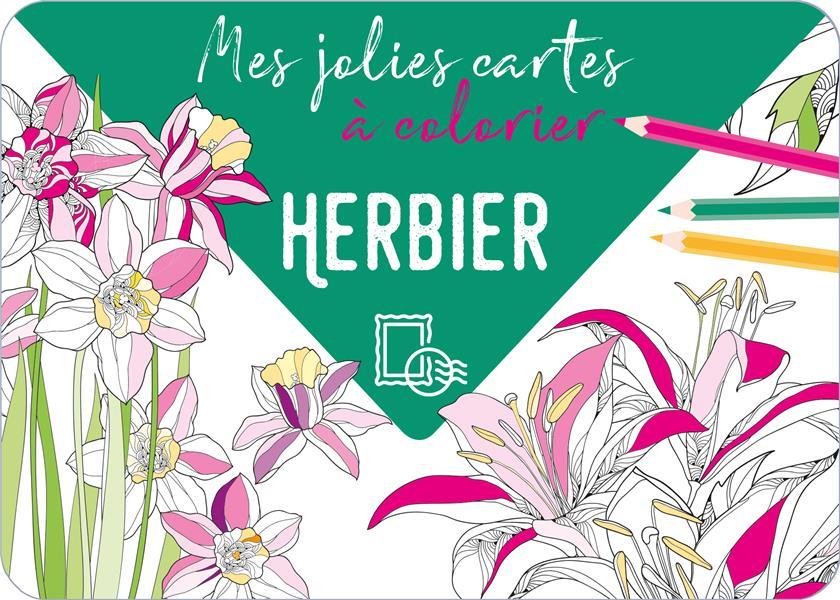 MES JOLIES CARTES A COLORIER - HERBIER