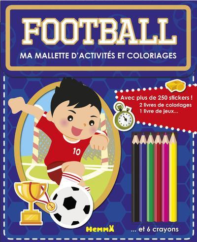 MA MALLETTE D'ACTIVITES ET COLORIAGES FOOTBALL (FOND BLEU)