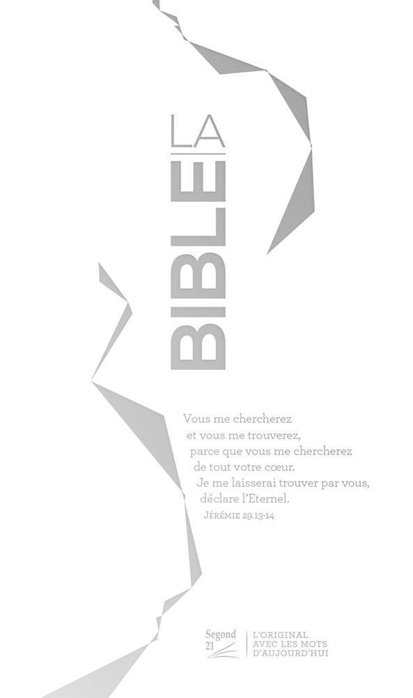 BIBLE SLIM RELIEE ARGENTEE
