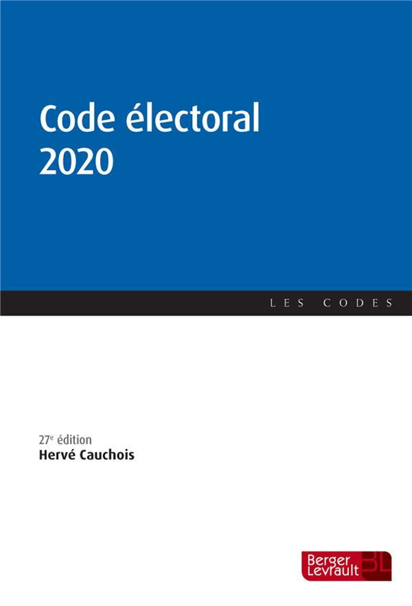 CODE ELECTORAL 2020 (27E ED.)