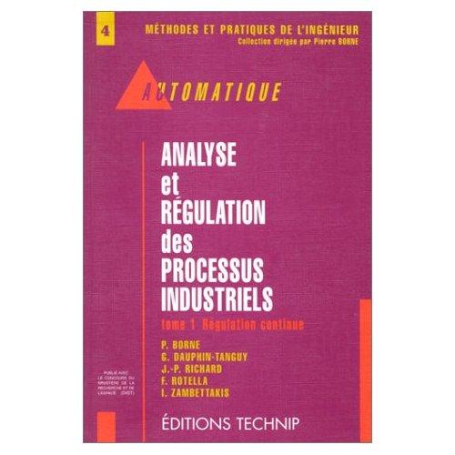 ANALYSE ET REGULATION DES PROCESSUS INDUSTRIELS