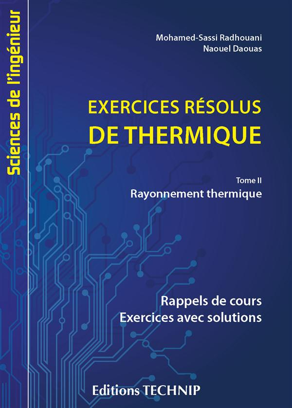 EXERCICES RESOLUS DE THERMIQUE TOME 2