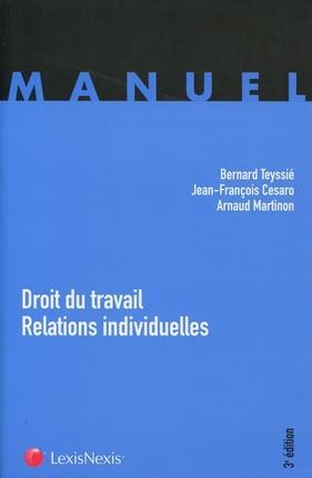 DROIT DU TRAVAIL - RELATIONS INDIVIDUELLES