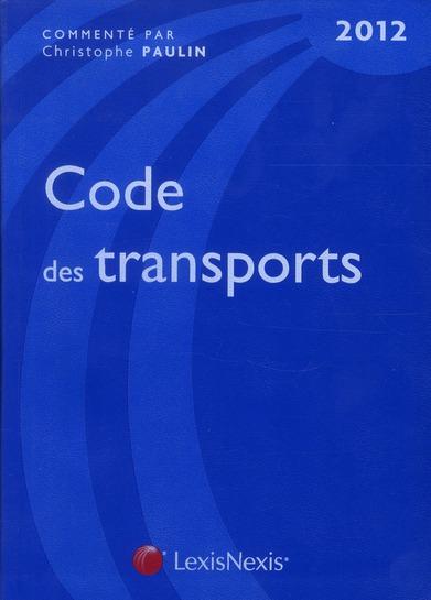 CODE DES TRANSPORTS 2012