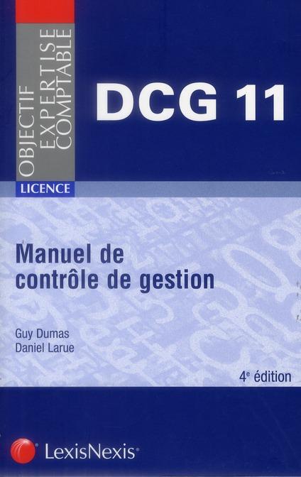 MANUEL DE CONTROLE DE GESTION