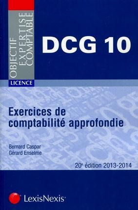 EXERCICES DE COMPTABILITE APPROFONDIE. 2013-2014. LICENCE-DCG 10