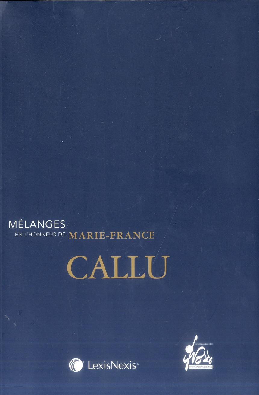 MELANGES EN L'HONNEUR DE MARIE-FRANCE CALLU