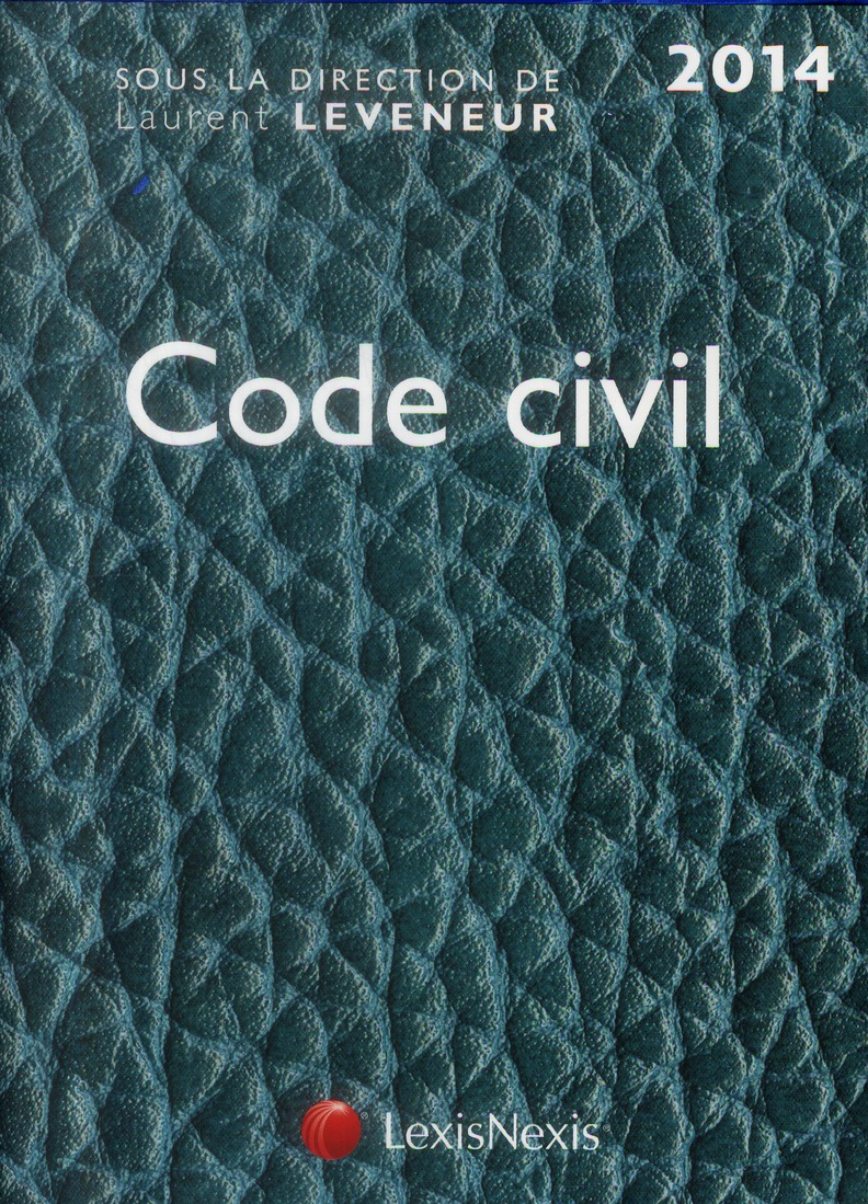 CODE CIVIL 2014 CUIR TURQUOISE
