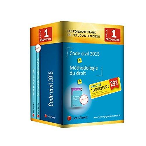 PACK DEBUTANT DECOUVERTE 2015 COMPRENANT 1 EX DES G04931 CODE CIVIL 2015 G04813