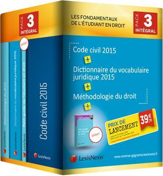 PACK ETUDIANT INTEGRAL 2015 1 EX DES G04931 CODE CIVIL 2015 G04813 MET DT G0939