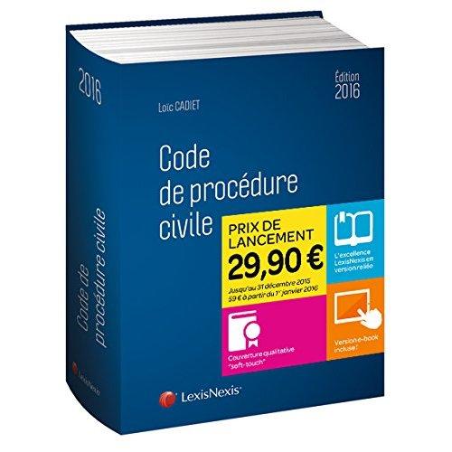 CODE DE PROCEDURE CIVILE 2016