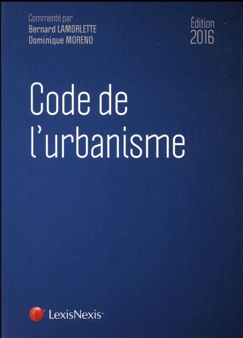 CODE DE L URBANISME 2016