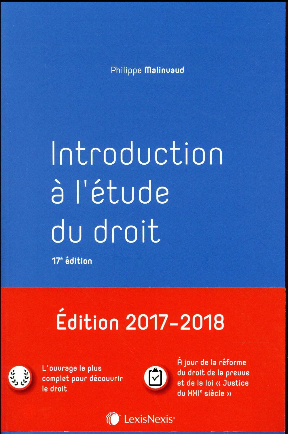 INTRODUCTION A L ETUDE DU DROIT